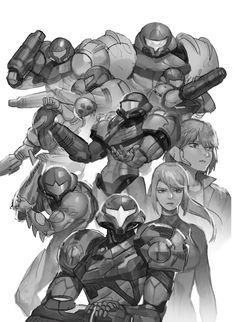 Metroid Samus, Samus Aran, Samus Zero, Epic Art, Anime Fantasy, Fantasy Character Design, Video Game Art, Fantasy Characters, Cool Drawings
