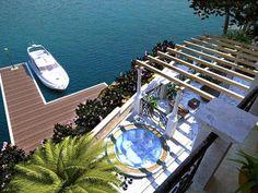 Luxusvilla Insel Brac in Kroatien › Immobilien Meerblick