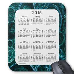 52 Weeks 2015 Calendar by Janz Marbled Mousepad