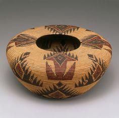 The workmanship on this Shouldered jar basket is stunning.  Lucy Telles, Miwok-Paiute Sedge, redbud, bracken fern root.  CIrca 1912