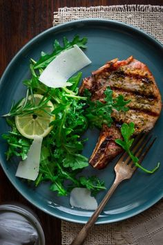Best Simple Rosemary Rubbed Pork Chops Recipe on Pinterest