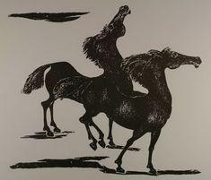 Κατράκη Βάσω – Vasso Katraki [1914-1988] | paletaart – Χρώμα & Φώς Wood Engraving, World War Ii, Painters, Printmaking, Moose Art, Greek, Animals, World War Two, Woodblock Print