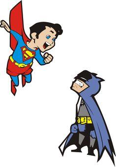Superman e Batman mirim by ~Roswel I love this!