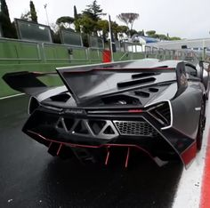 The Lamborghini Veneno is a brutal beast, and a rare one at that. It's 6.5-liter V-12 produces 750 horsepower, can do 0-62 in 2.8 seconds, and has a top speed of 221 miles per hour. On paper that's impressive. On the track, it's a thing of beauty. Watch it here http://www.carhoots.com/blog/supercars/watch-this-lamborghini-veneno-rip-roar-around-the-track-video