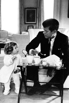 JFK at a tea party ❣