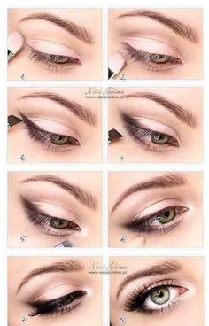 This is a nice way to highlight the outer corners with eye shadow instead of liner (more natural look).