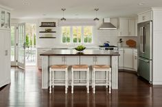 Small cape cod kitchen ideas | White can be very hot! Sprinkle in a color and bam, you have a ...
