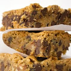 Almond Chocolate Blondies -- made with almond butter, coconut milk, whole wheat flour and ground flax seeds