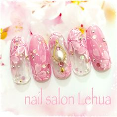 New Year's Nails, 3d Nails, Love Nails, Gorgeous Nails, Pretty Nails, Floral Nail Art, Nailart, Barbie House, Girls Jewelry