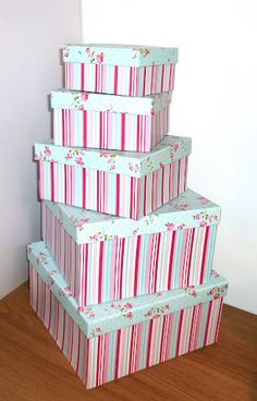 shabby chic hat boxes - Google Search