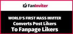 """Checkout FanInviter Review and Bonuses  Learn more here: http://mattmartin.club/index.php/2017/05/18/faninviter-review-and-bonuses/ #Apps, #Blog, #Software, #Software_Tools    Product: FanInviter Type: Chrome Browser Extension Price: $27.00-$47.00 Creators: Andrew Darius – Explaindio   Summary : Easily mass invite people who liked your post(s) on Facebook to like your Fanpage as well. Stop wasting time and boring tasks by clicking manually on """"invite"""" buttons over a."""