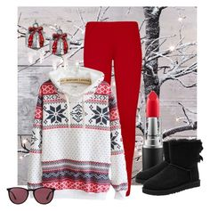 """""""Untitled #2550"""" by empathetic ❤ liked on Polyvore featuring WearAll, MAC Cosmetics, UGG Australia, Whimsical Watches and Ray-Ban"""