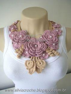 colar miss flor, colar de croche, colar com flores rosa, rosa, feminino, colar de flores I cannot find any problem with this blog.