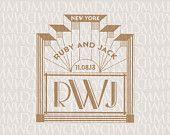 Marquee 1920s Art Deco Monogram Custom Wedding Logo. $25.00, via Etsy.
