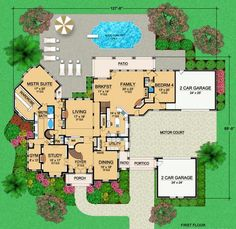 4 bedrooms, spiral staircase, motor court