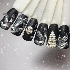 Nails simple Nageldesign Winter The trendy patterns for the winter Nageldesign Winter Fashionable patterns for winter Nail Art Noel, Xmas Nails, Winter Nail Art, Christmas Nail Art, Holiday Nails, Winter Nails, Christmas Print, Gel Nail Art Designs, Nail Design Video