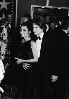 Audrey Hepburn and her son, Sean Ferrer, attend an AFI (American Film Institute) tribute to Fred Astaire, Los Angeles, California, April 18, 1981. (Photo by Fotos International/Getty Images)