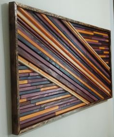 "3D Wooden Picture - Angle Style - ""Candy"" Wall Art, Wooden Wall Art, Wooden Home Decor, Buy 3D wooden Picture. Colors and dimensions could be changed - custom orders. More info on www.woodcor.net"