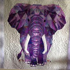 WOW! Another stellar elephant quilted by Terry! Thank you for sharing it with the #APQS community.