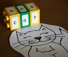 Repurpose Legos for spelling, reading, literacy activities and more