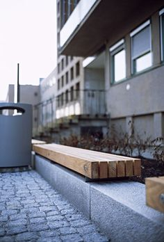 Exterior benches Street furniture Porto Vestre Tore Check it out on Architonic Concrete Bench, Concrete Furniture, Bench Furniture, Urban Furniture, Street Furniture, Garden Furniture, Concrete Walls, Furniture Outlet, Discount Furniture