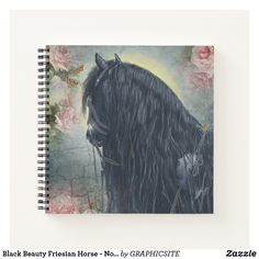Black Beauty Friesian Horse - Notebook