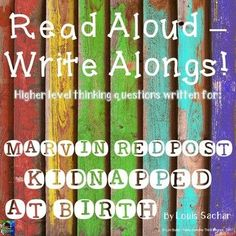 This is the latest in a new series that I've created, called READ ALOUD-WRITE ALONGS! I have written interactive, higher level thinking questions aligned with the common core to go with each chapter of popular classroom read alouds. These tri-folds will h Frindle, Louis Sachar, Ela Classroom, Classroom Ideas, Fifth Grade, Third Grade, Balanced Literacy, Literature Circles, Book Club Books