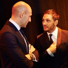 Mark Strong and Tom Hardy. Interesting combination. Thomas Becket meets Henry II