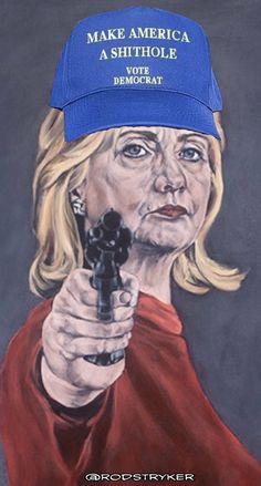 Her hat the Democrat slogan of the year.