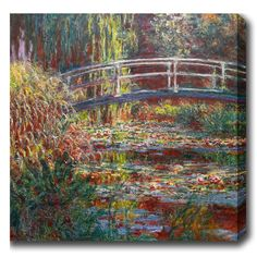YGC Claude Monet 'The Water Lily Pond' Oil on Art