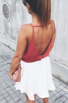 open back + skater skirt #boohoo