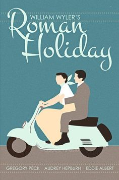 Roman Holiday (1953) - Minimal Movie Poster by Claudia Varosio #minimalmovieposter #alternativemovieposter #50smovies #claudiavarosio