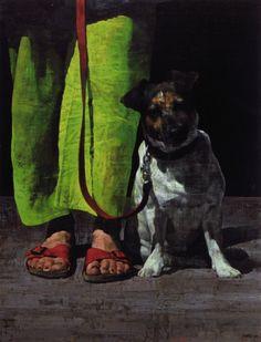loverofbeauty:François BardWoman with Dog, 2007  (Originally...