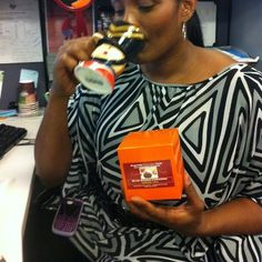 Kym Hampton - WNBA Basketball Player - enjoying Taking Tea InStyle's Gourmet Teas.  What an amazing lady! And she can sing!!!  Go Kym!