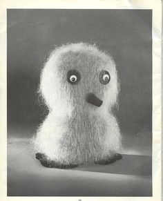 """Snowie the Owl Pattern from """"Gifts and Novelties by Mary Maxim"""" Vol. 1, c. 1960.""""   The Ookpik AKA Arctic or Snowy Owl is a quintessentiall..."""