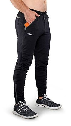 2adf1ca38e Special Offers - Cheap Jogzz Mens Slim Fit Skinny Jogger Pants with Zipper  Fly- Black