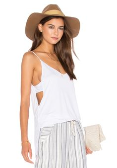 Lanston Cut Out Cami in White | REVOLVE