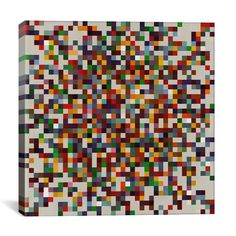 Ebern Designs Modern cPixilated Tile Colorful Cluster Modern Graphic Art on Canvas Diy Wall Art, Metal Wall Art, Canvas Frame, Canvas Size, Canvas Art Prints, Canvas Wall Art, Modern Art, Modern Design, Tile Art