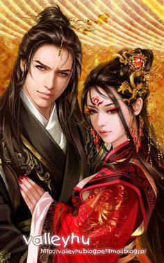 Asian inspired art, illustrations and digital painting Chinese classical b by valleyhu.deviantart.com on @deviantART