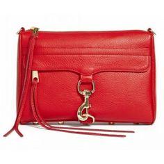 Rebecca Minkoff Mac Red Clutch Bag With Gold Hardware