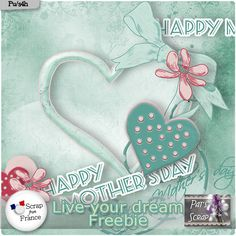 Live your Dream - Freebie by Pat's Scrap at ScrapFromFrance - 2016 Live For Yourself, Dreaming Of You, Scrap, Creative Crafts, Tat