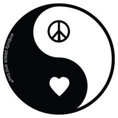 ☯~Yin y Yang~☯ ☯•ϓᎥᑎ•ϓᗋᑎ૭•☯.。.☯・゚  ☮✌~Paz~✌☮ ❤~ AMOR ~❤ ❤☮✌Peace☮✌❤