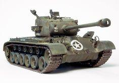 M26 Military Guns, Military Vehicles, Plastic Model Kits, Plastic Models, M26 Pershing, Patton Tank, Model Tanks, Military Modelling, Korean War