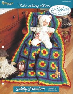 Crochet Granny Square Baby Afghan Pattern by KnitKnacksCreations
