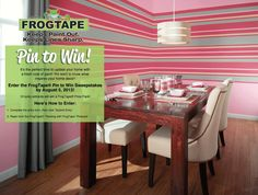 Make sure to enter the FrogTape Pin to Win: Painting with FrogTape Pinterest Sweepstakes!