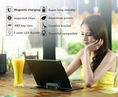 Universal Bluetooth Backlit Keyboard For Tablet with 7-color LED backlight for Samsung Galaxy Tab 10.1 2016 Wifi 4G Tablet