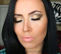 Earthy Makeup: Gold & Brown Eye Makeup Tutorial  #makeup #goldmakeup #brownmakeup #earthmakeup