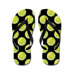 Tennis Balls Flip Flops on CafePress.com