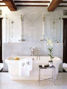 Half glass half solid... Perfect tub shower combo