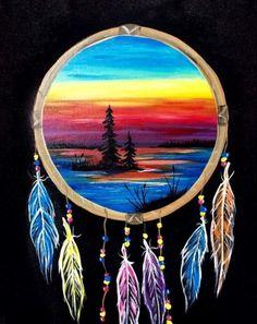 Dream Catcher Lake - Paint Nite Painting